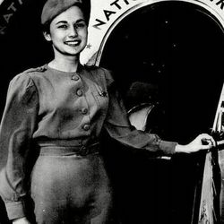 """A chief attendant of the 40s. Photo via <a href-""""http://www.nationalsundowners.com/decades/70uniform.php"""">National Sundowners.</a>"""