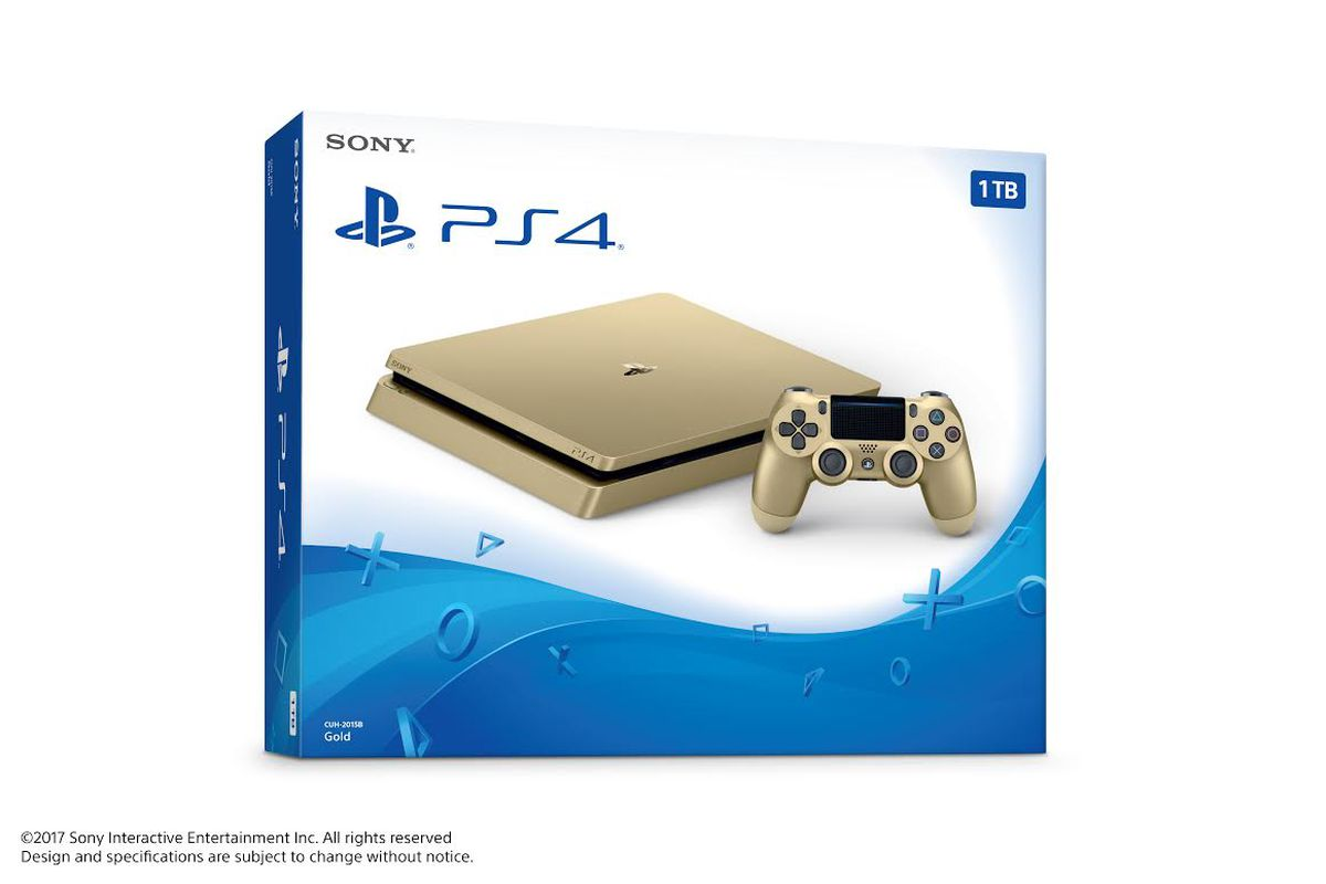 Today Sony Announced A Limited Edition Version Of The Console With 1tb Storage And Gold Color Scheme