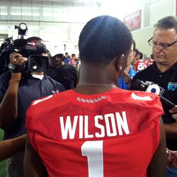 Dontre Wilson, the star of OSU media day.