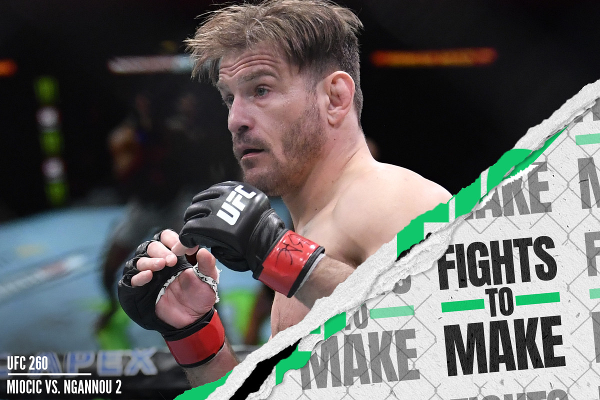 Stipe Miocic fights Francis Ngannou at UFC 260.