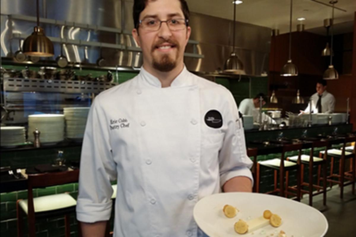 Chef Eric Cobb, Knife's brand-new pastry chef.