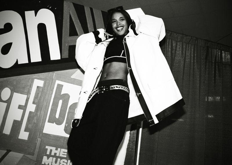 Aaliyah onstage in 1995.