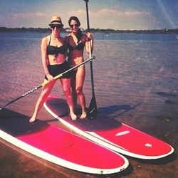 After lunch I went paddleboarding, which has become one of my favorite activities over the past few summers. It is an awesome workout.