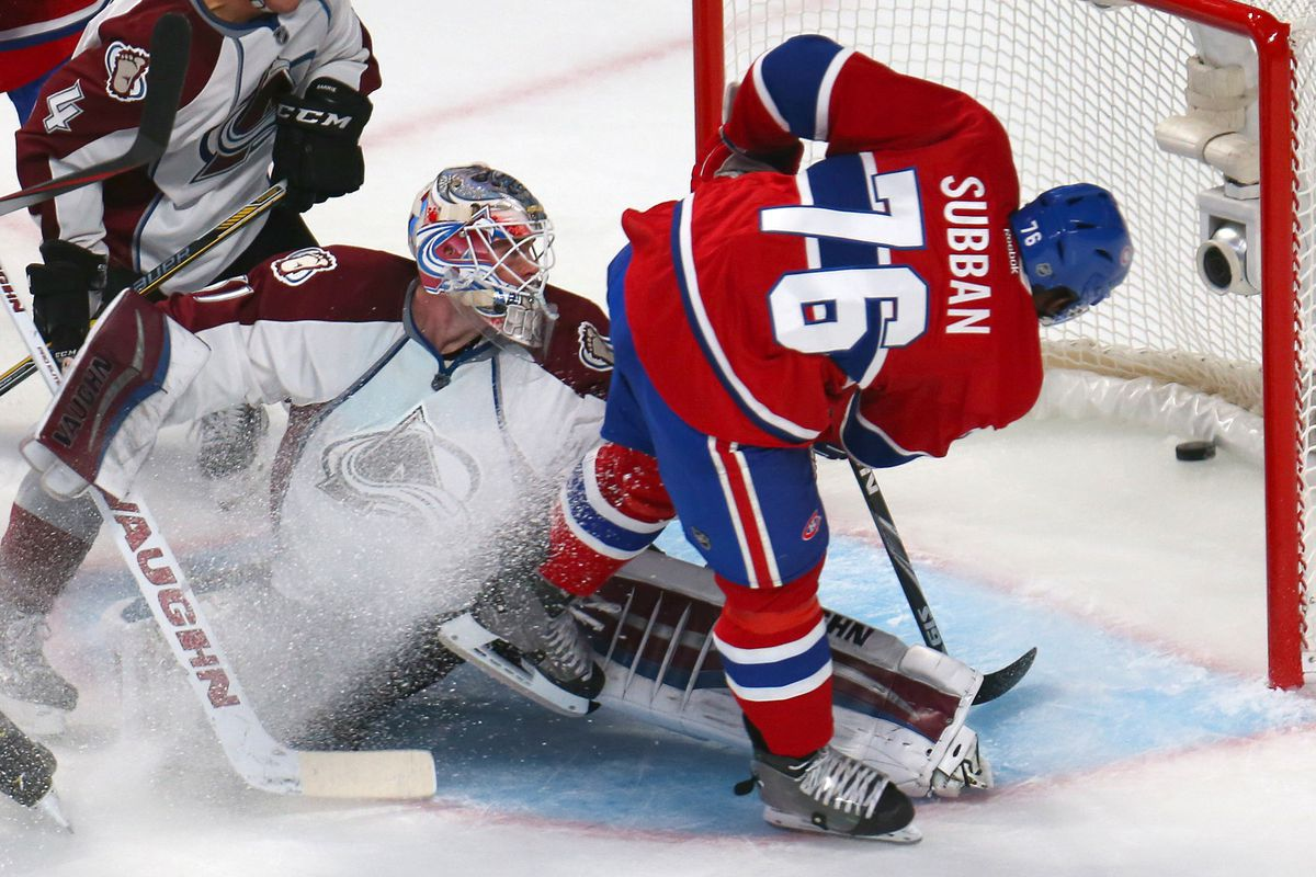 canadiens vs avalanche top six minutes the avs and the. Black Bedroom Furniture Sets. Home Design Ideas