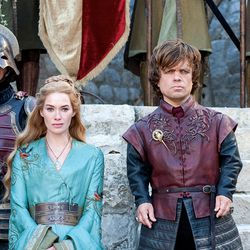 Season 2: A queenly yet relaxed look for Cersei. Tyrion has underrated great hair texture.