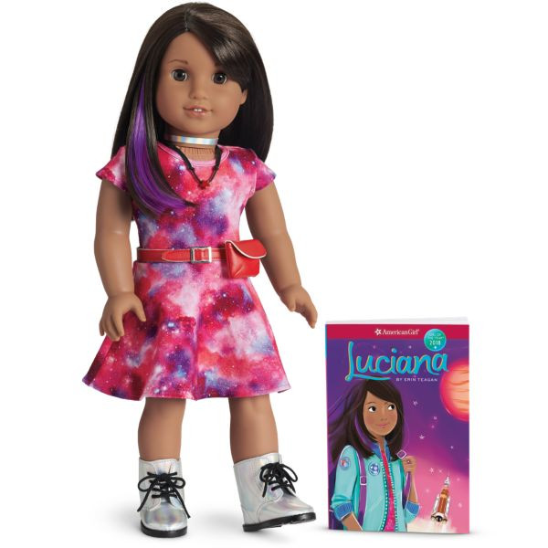 Luciana, an aspiring astronaut, was American Girl's 2018 Girl of the Year.