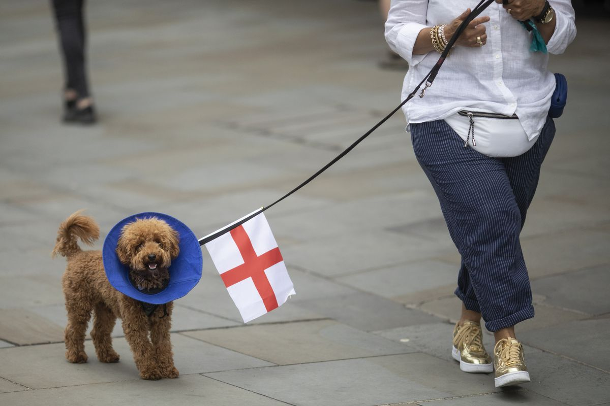 Support Is Shown For The England Football Team As They Prepare For The Euro 2020 Final