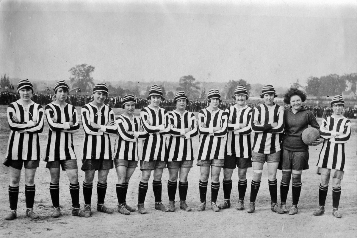 Dick, Kerr Ladies F.C,the ground-breaking womens football club, pose for a photograph in 1922