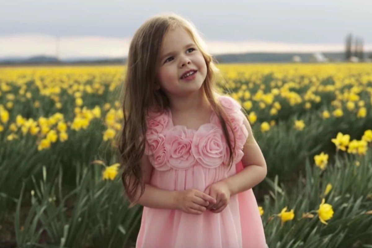 "Claire Crosby sings ""Beautiful Savior."""