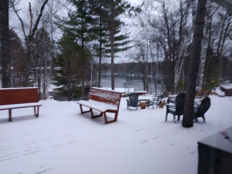 What it looked like in the Northwoods just days before one of the most beautifully mild opening weekends in Wisconsin's general fishing season. Credit: Howard Bass
