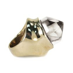 Single Quartz Crystal Ring, $150 (was $450)