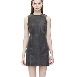 """<a href=""""http://www.theory.com/Ducka-Nico-Leather-Dress/D07TT609,default,pd.html?dwvar_D07TT609_color=MGM&start=62&cgid=new-styles-added"""">Ducka Dress in Nico Leather</a>, $335.62 (was $895)"""