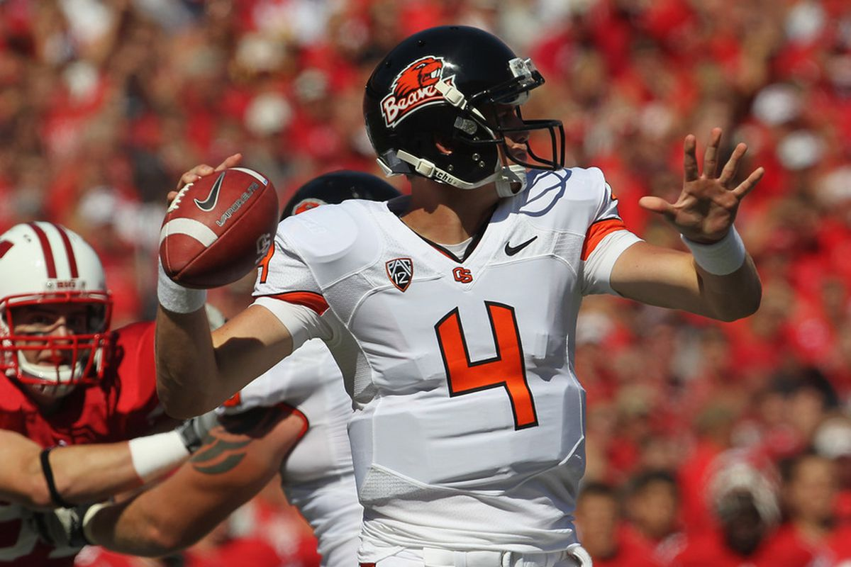 Oregon State quarterback Sean Mannion found success against the Badgers last season. Despite splitting reps with Ryan Katz, Mannion managed to throw for 244 yards in a losing effort at Camp Randall.