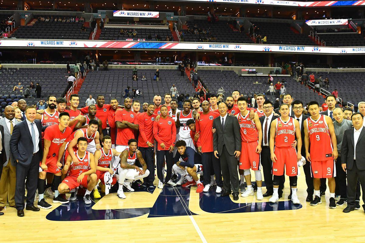 NBA: Preseason-Guangzhou Long-Lions at Washington Wizards