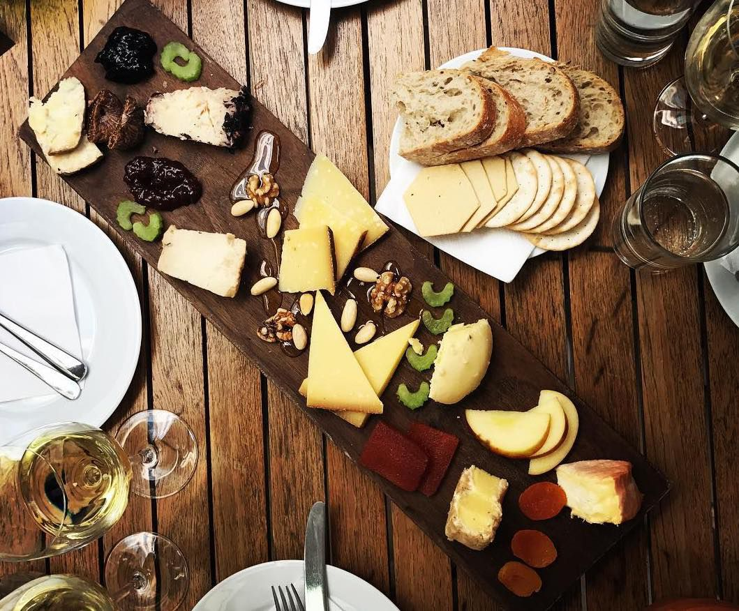 Cheeseboard at Vivat Bacchus, one of the best places to eat cheese in London