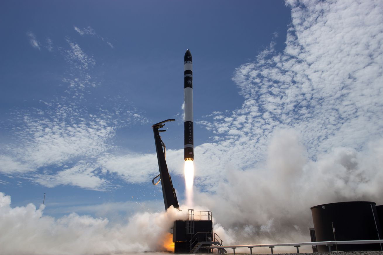 <em>Rocket Lab's Electron launching during its second test flight</em>