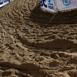 The sand in Koksijde is no gimmick.