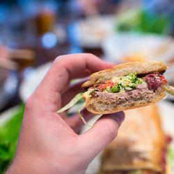 """Duck Sandwich from Momofuku Ssam Bar by <a href=""""http://www.flickr.com/photos/39077397@N07/7271422260/"""">mattduckor</a>"""