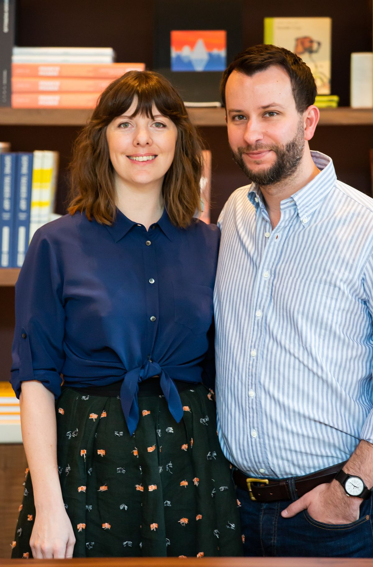 Katie Barringer and Jordan Smelt, owners of Lucian Books and Wine In Atlanta