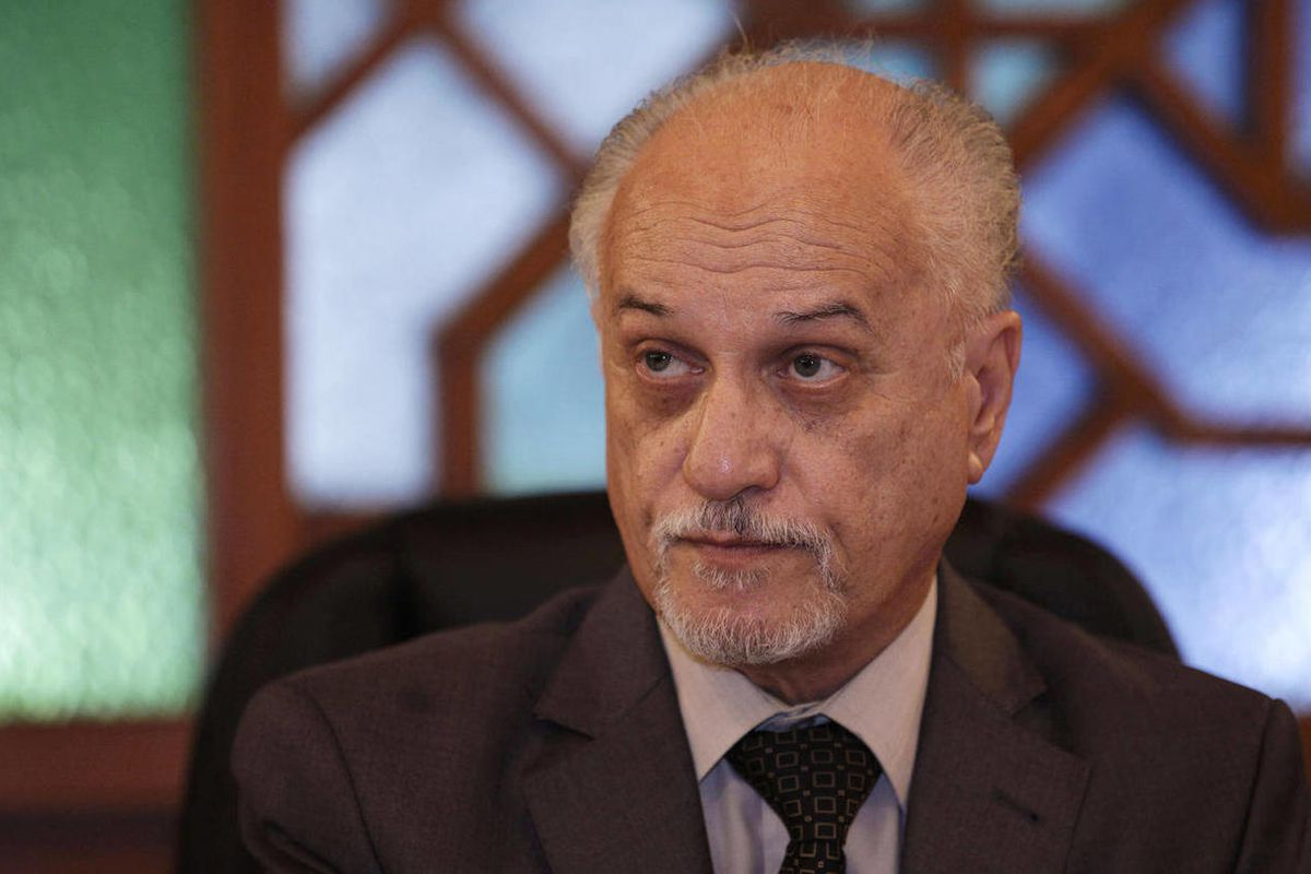Deputy Prime Minister for Energy Hussain al-Shahristani speaks during an interview with the Associated Press in Baghdad, Iraq, Thursday, April 12, 2012. Iraq's top energy official says the country may be open to letting Exxon Mobil keep some of its disput