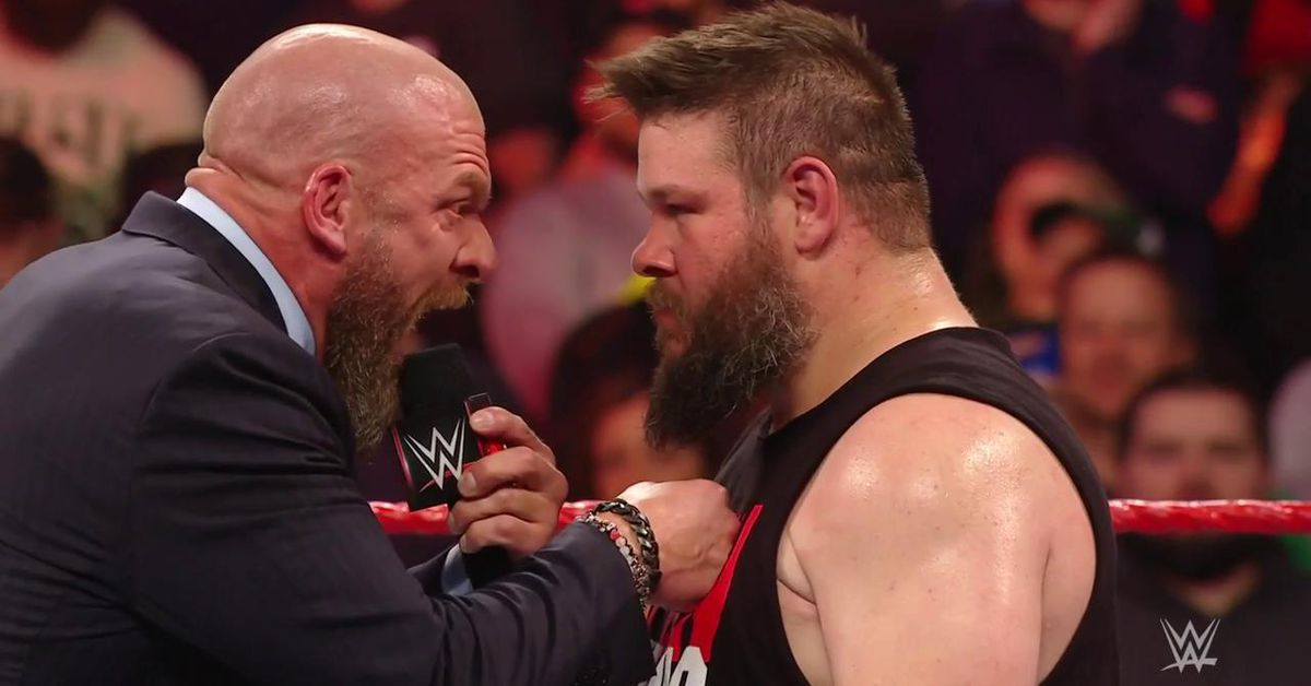 Triple H shows up on Raw to recruit Kevin Owens - Cageside ...