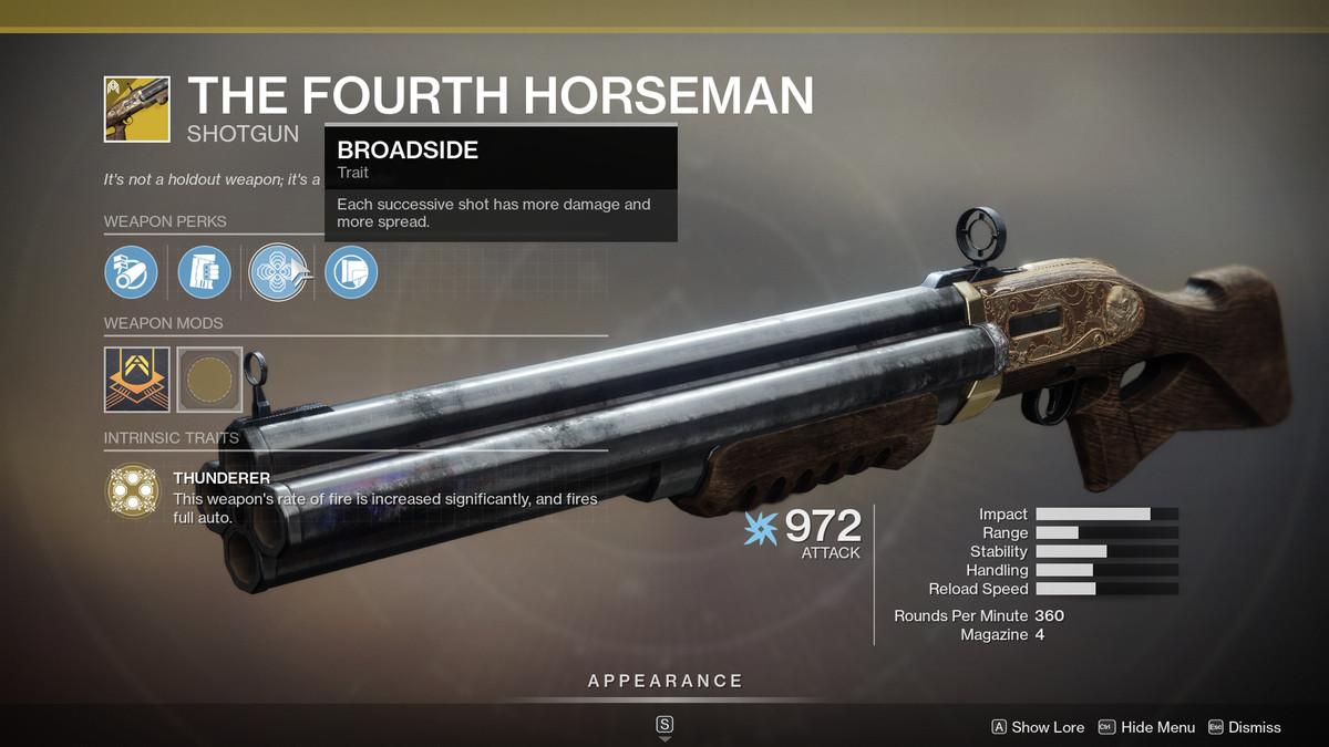 The Fourth Horseman Destiny 2