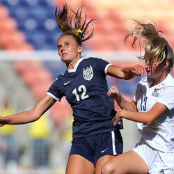 Skyline and Bonneville play in 5A girls soccer state semifinal action at Rio Tinto Stadium in Sandy, Utah, on Tuesday, Oct. 20, 2020. Bonneville won 2-0.