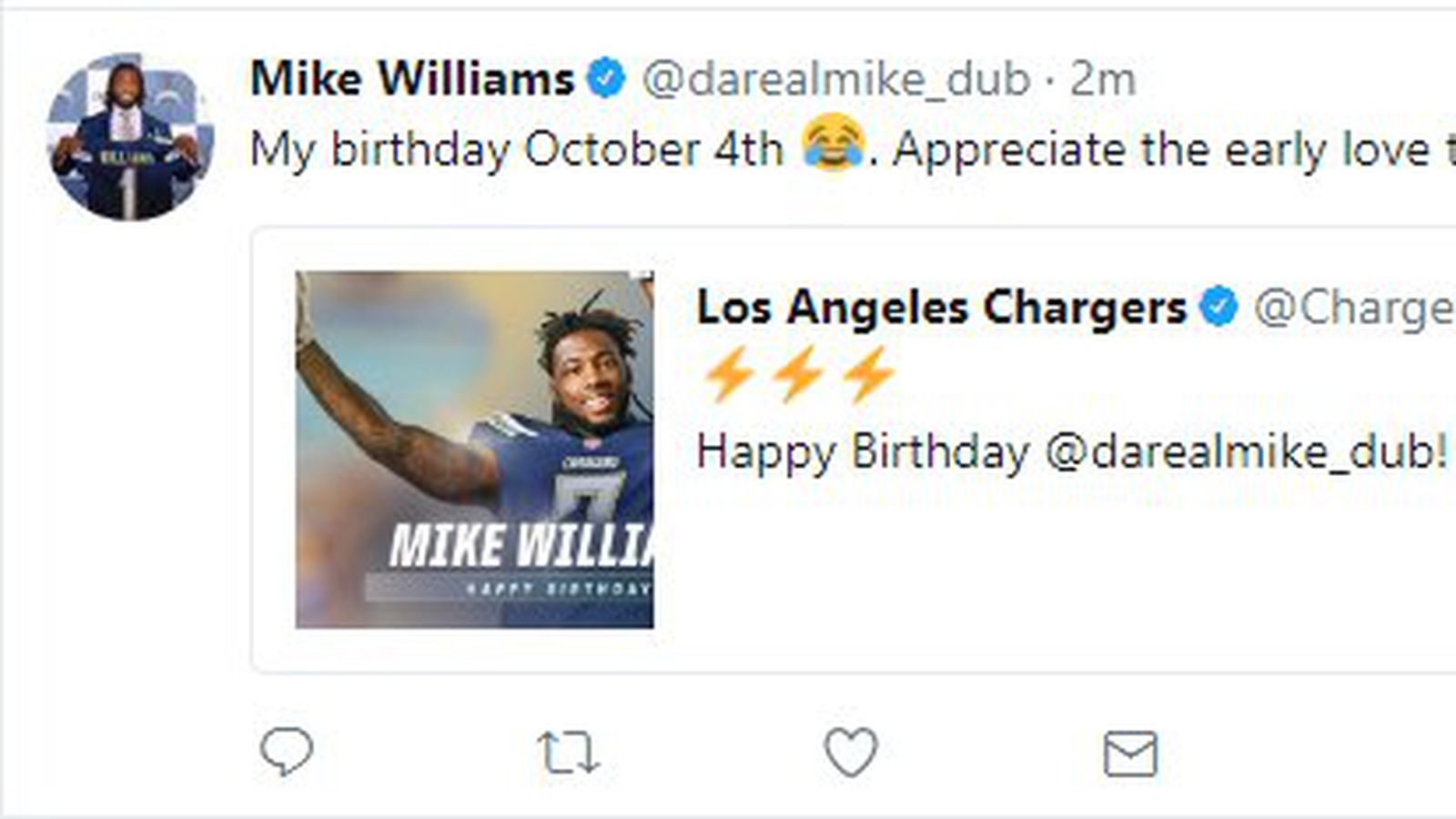 Podcast Happy Birthday Mike Williams Bolts From The Blue