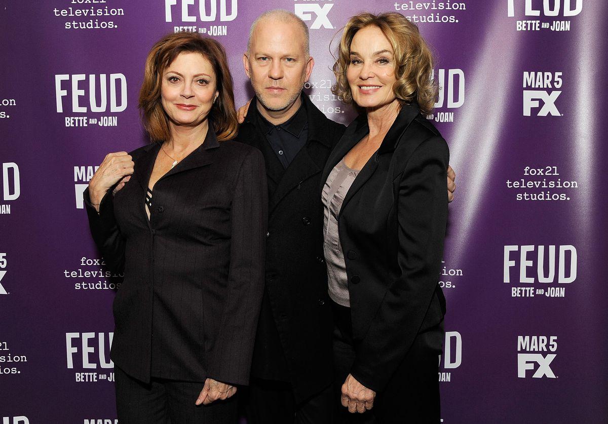 Susan Sarandon, Ryan Murphy, and Jessica Lange (GettyImages)