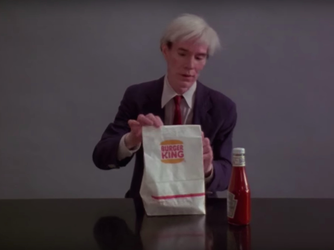 Andy Warhol Eats a Whopper in Burger King