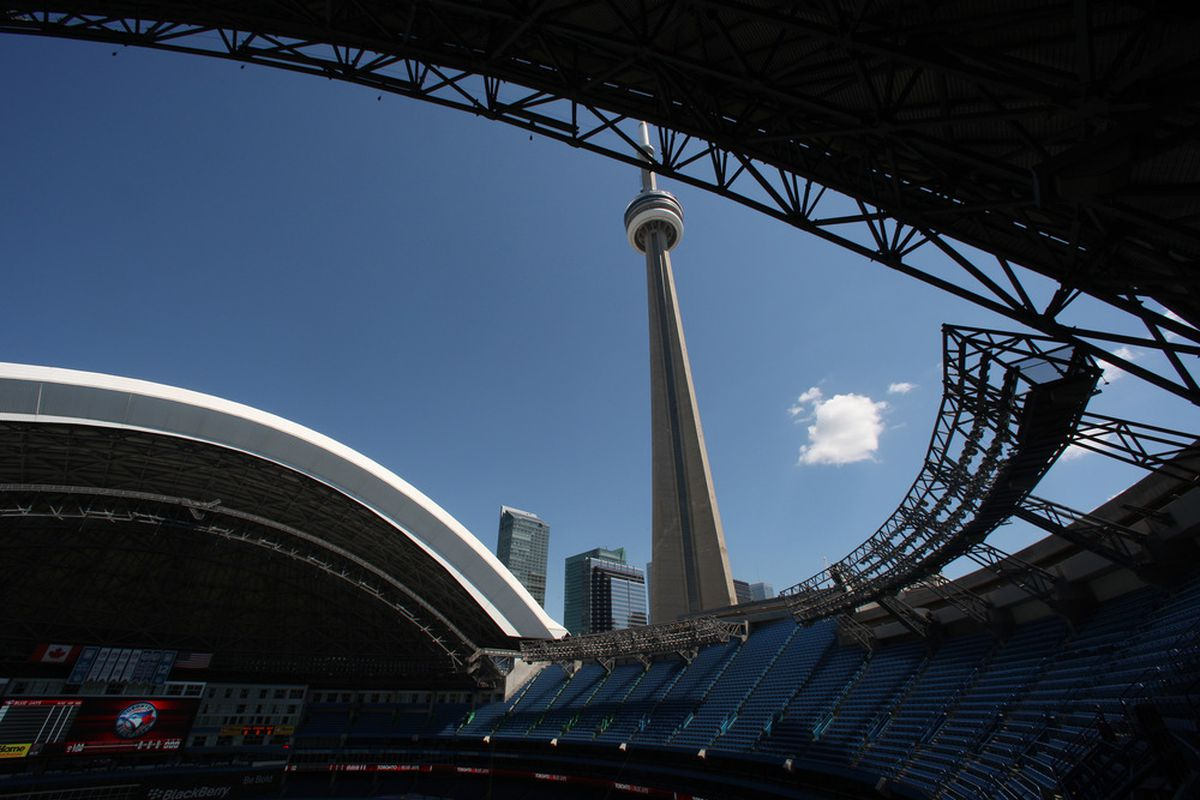 TORONTO, CANADA :The roof of the <strike>Rogers Centre</strike> Skydome in Toronto, Ontario, Canada. (Photo by Tom Szczerbowski/Getty Images)