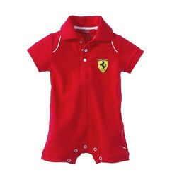 "Scuderia romper, <a href=""http://store.ferrari.com/en/clothing/kids/infant/ferrari-scuderia-short-sleeved-and-legged-rompers.html"">$80</a>"
