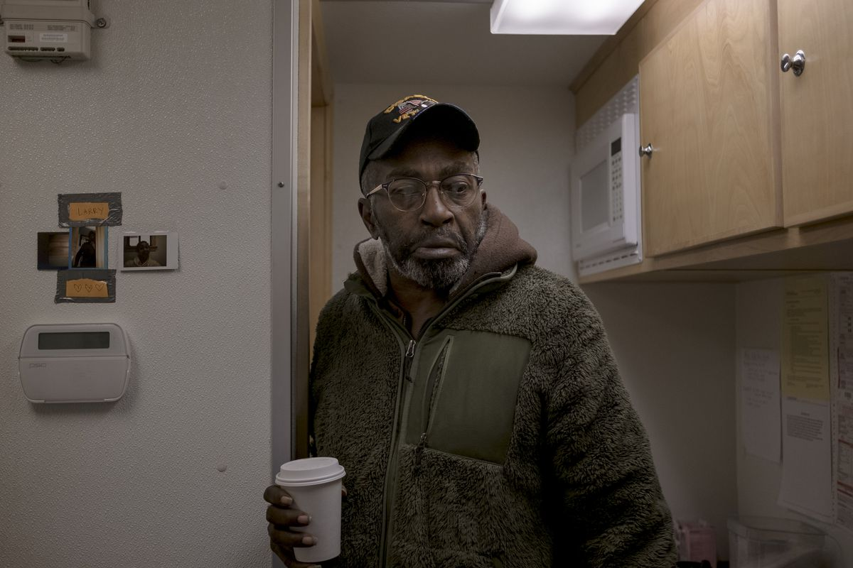 "Michael Rice, 58, has been treating opioid addiction from a buprenorphine van for nearly a year. If he wasn't at the program, Rice said, ""I am still getting high."""