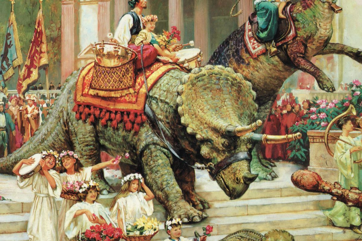 The first of many Dinotopia books.