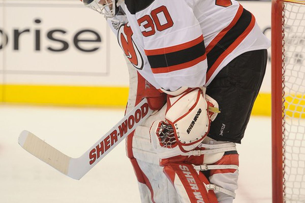 The 2012 playoffs ended in a whimper for Martin Brodeur and the New Jersey Devils.  However, Brodeur's play was the least of their problems.  Mandatory Credit: Jayne Kamin-Oncea-US PRESSWIRE