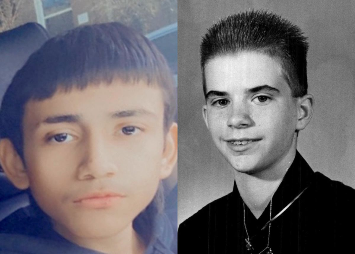 Joey Chlopek (right) was 12 years old when a Chicago police officer shot and killed him in Brighton Park in 1992. Almost three decades later, Joey's shooting shares many similarities with that of 13-year-old Adam Toledo (left).
