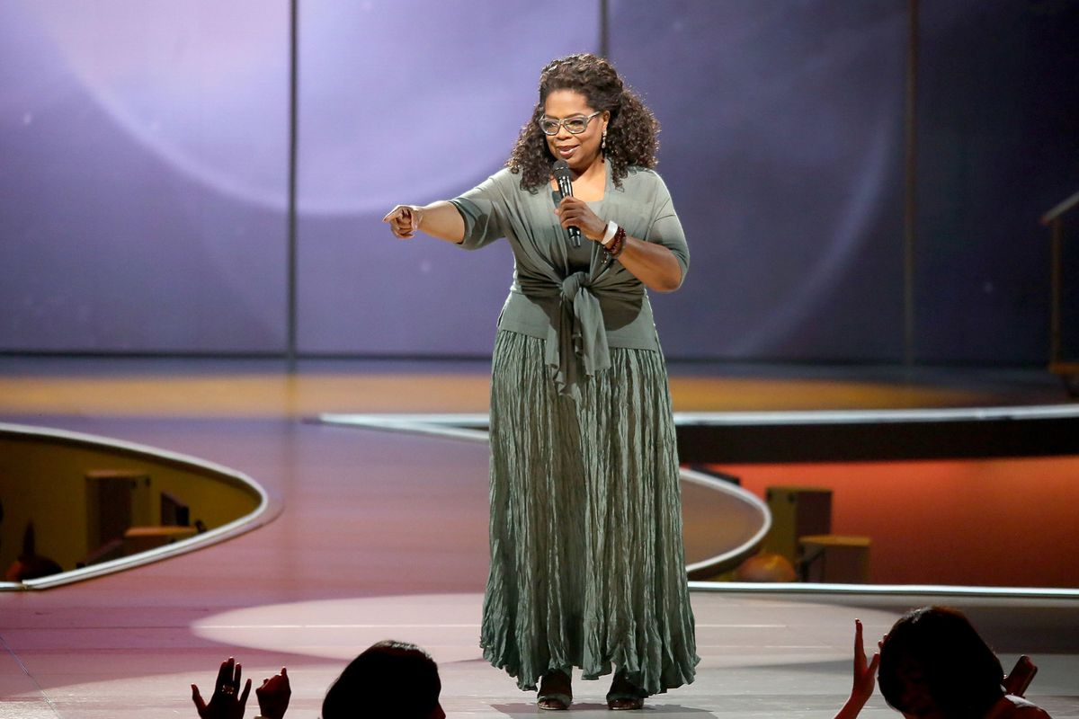 Oprah Winfrey at an event in Newark in 2014. On Thursday, Winfrey's charitable foundation announced a $5 million gift to Pathways to College, a nonprofit after-school program that supports high schoolers in Newark and other cities.