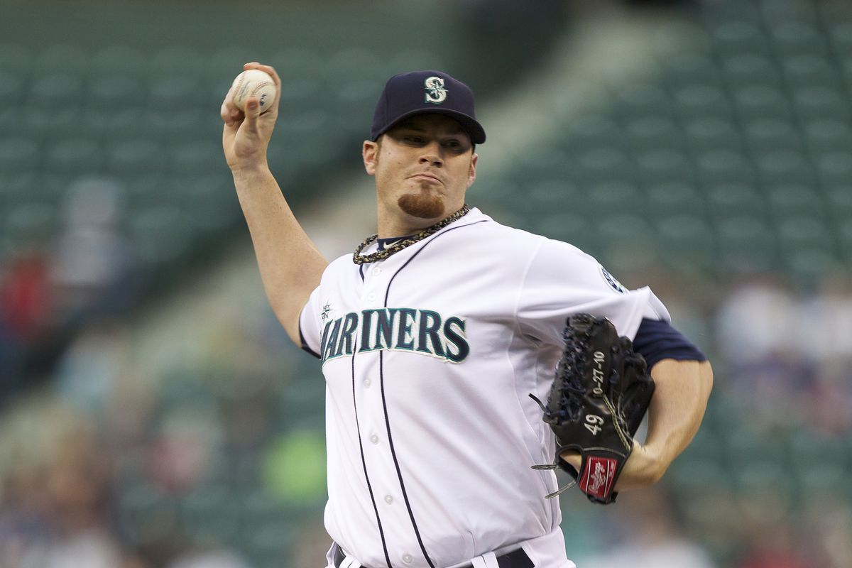 Blake Beavan might have won a spot in the Opening Day rotation.