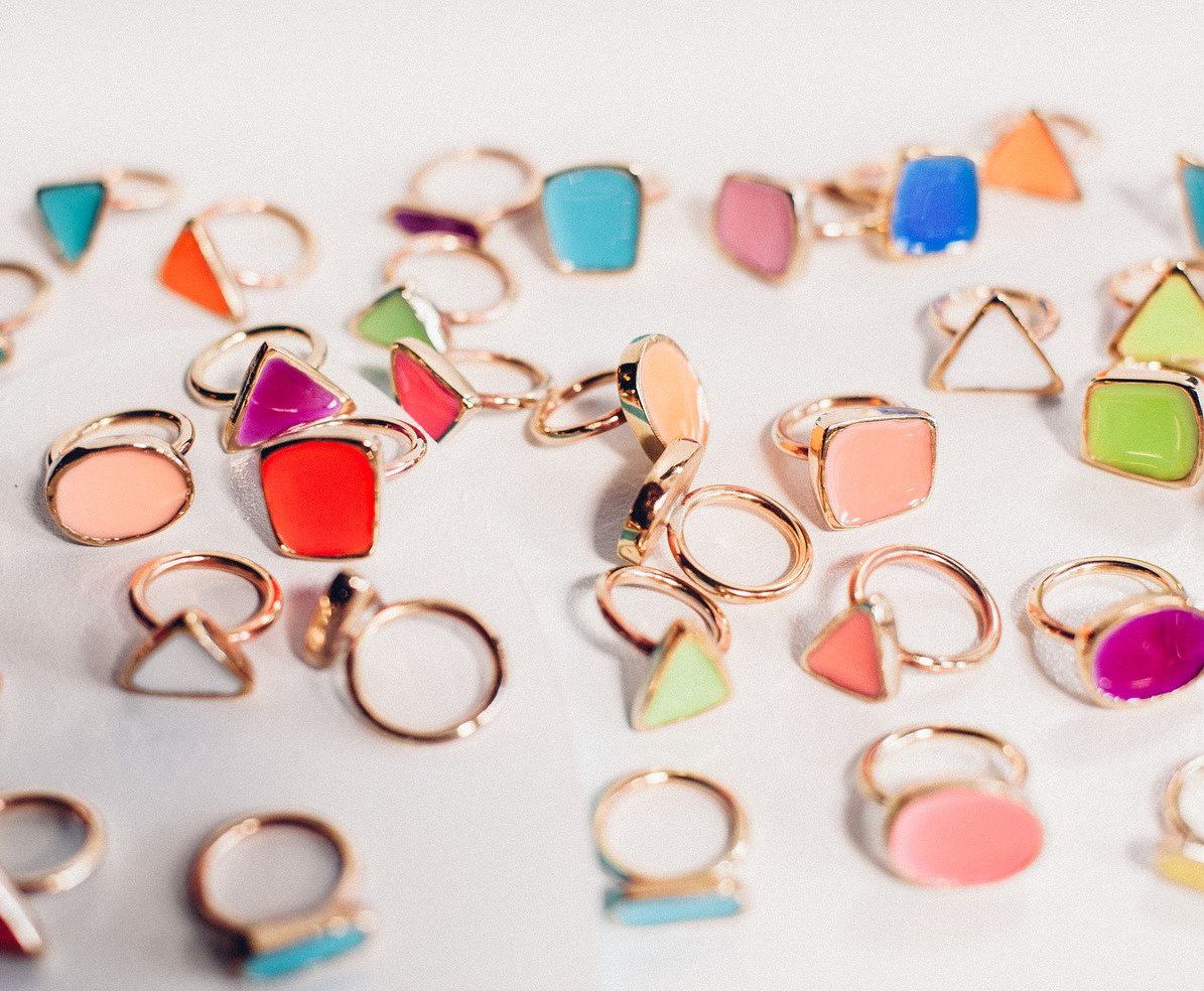 Colorful rings from Bulletin Market