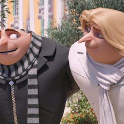 """Gru (Steve Carell) and Dru (Steve Carell) in """"Despicable Me 3."""""""