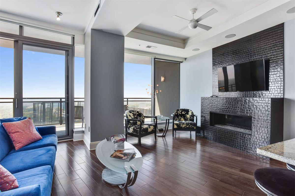 A condo at the Buckhead Sovereign tower for sale for more than $1.4 million.