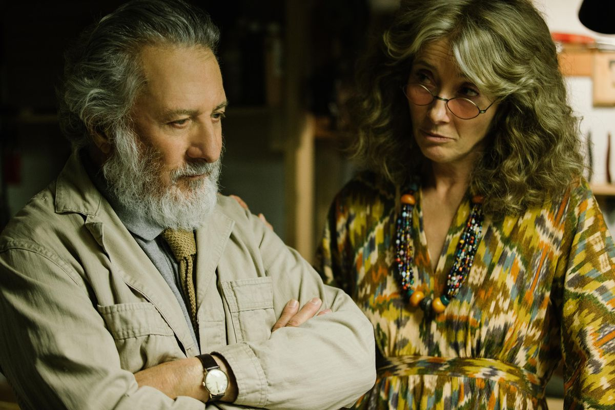 Dustin Hoffman and Emma Thompson in The Meyerowitz Stories