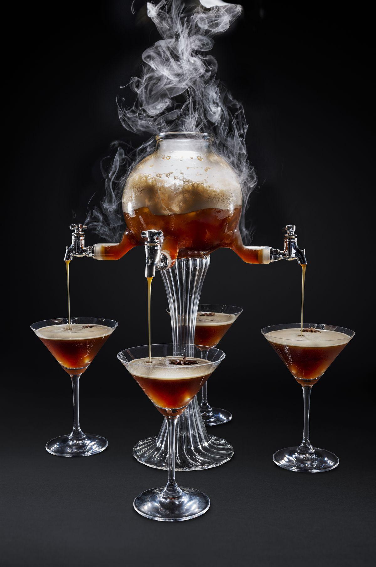 Espresso martini service at Mr. Coco