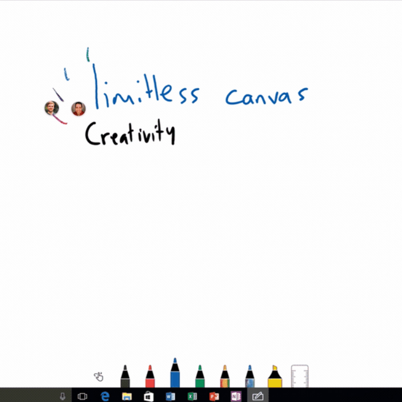 Microsoft unveils collaborative inking Whiteboard app for