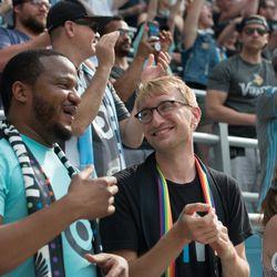 June 29, 2019 - Saint Paul, Minnesota, United States - MNUFC fans during an MLS match between Minnesota United FC and FC Cincinnati at Allianz Field (Tim C McLaughlin)