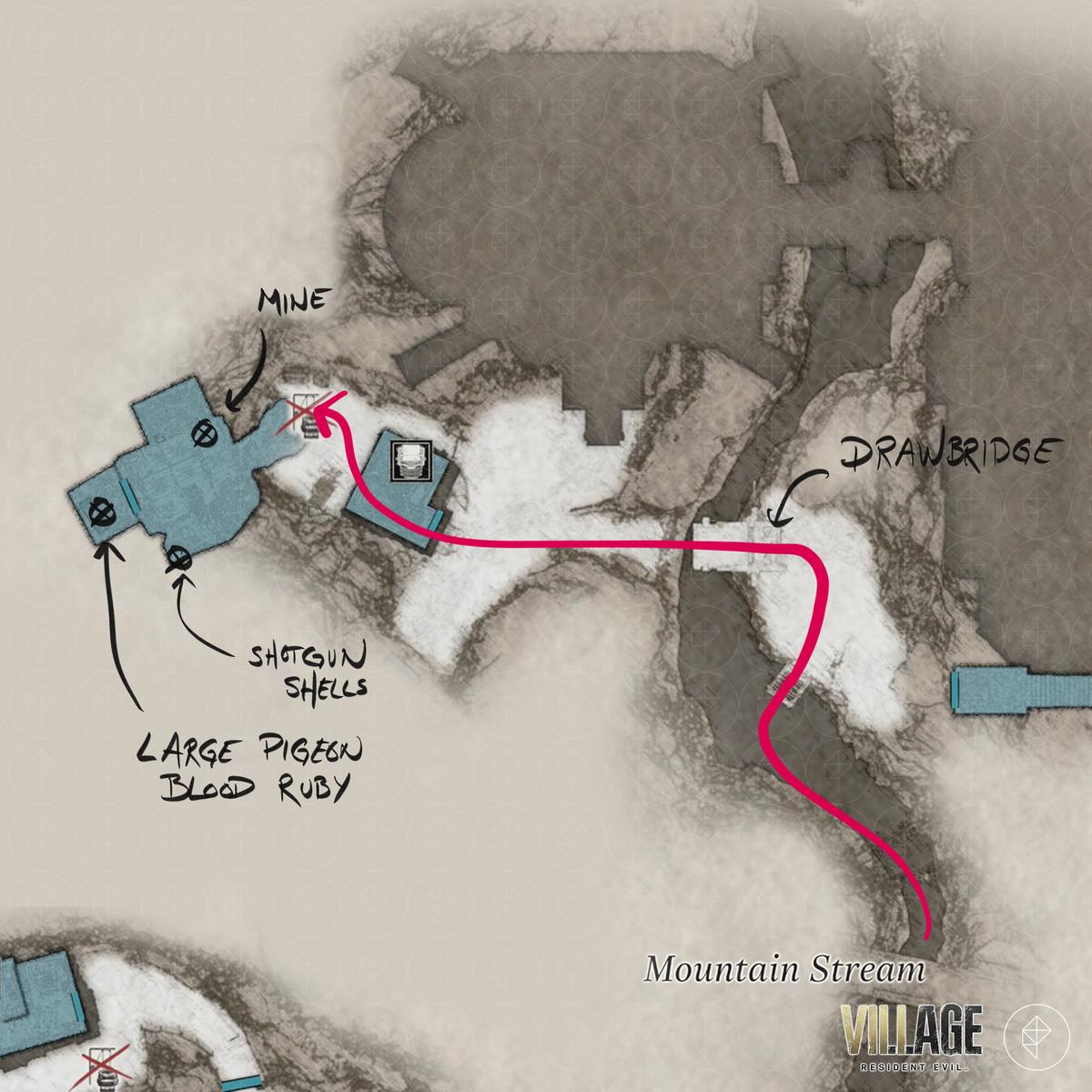 Resident Evil Village walkthrough part 12: Riverbank Treasure House and Mountain Stream