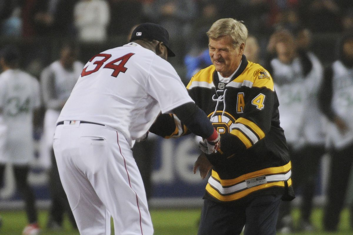 Best wishes are extended to Big Papi from Bobby Orr and the Bruins