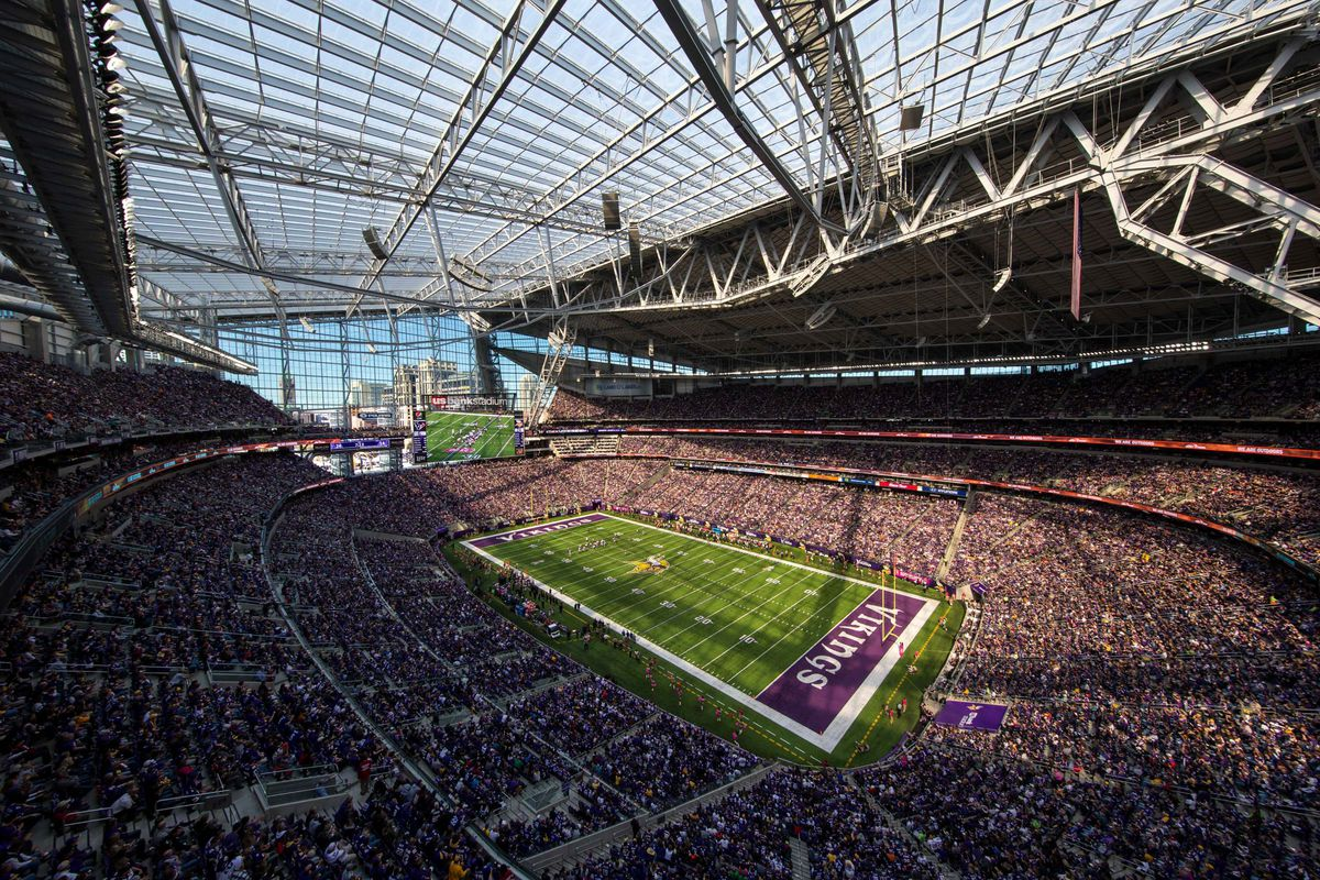 Packers Vs Vikings Us Bank Stadium S Windows Open For 43