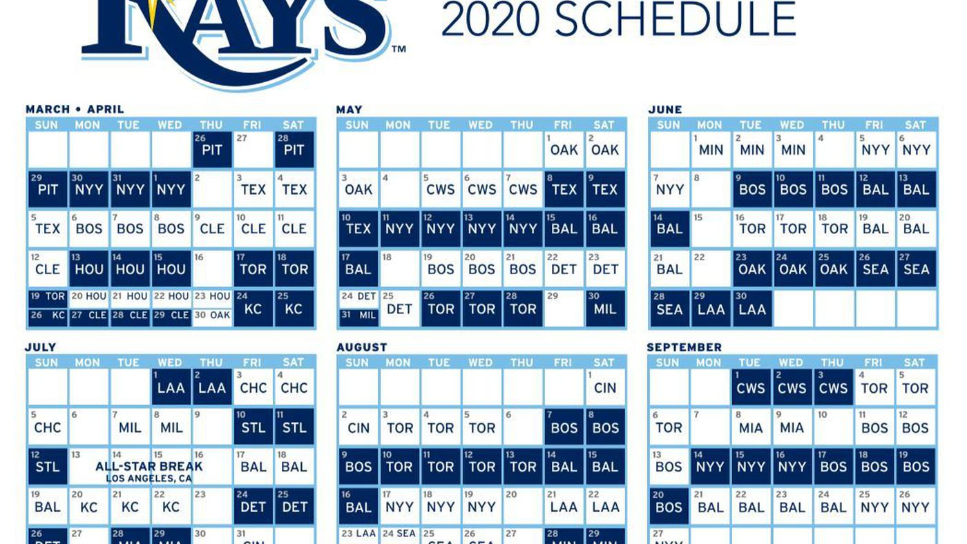 Rays pull 2020 schedule from the X-Files - DRaysBay