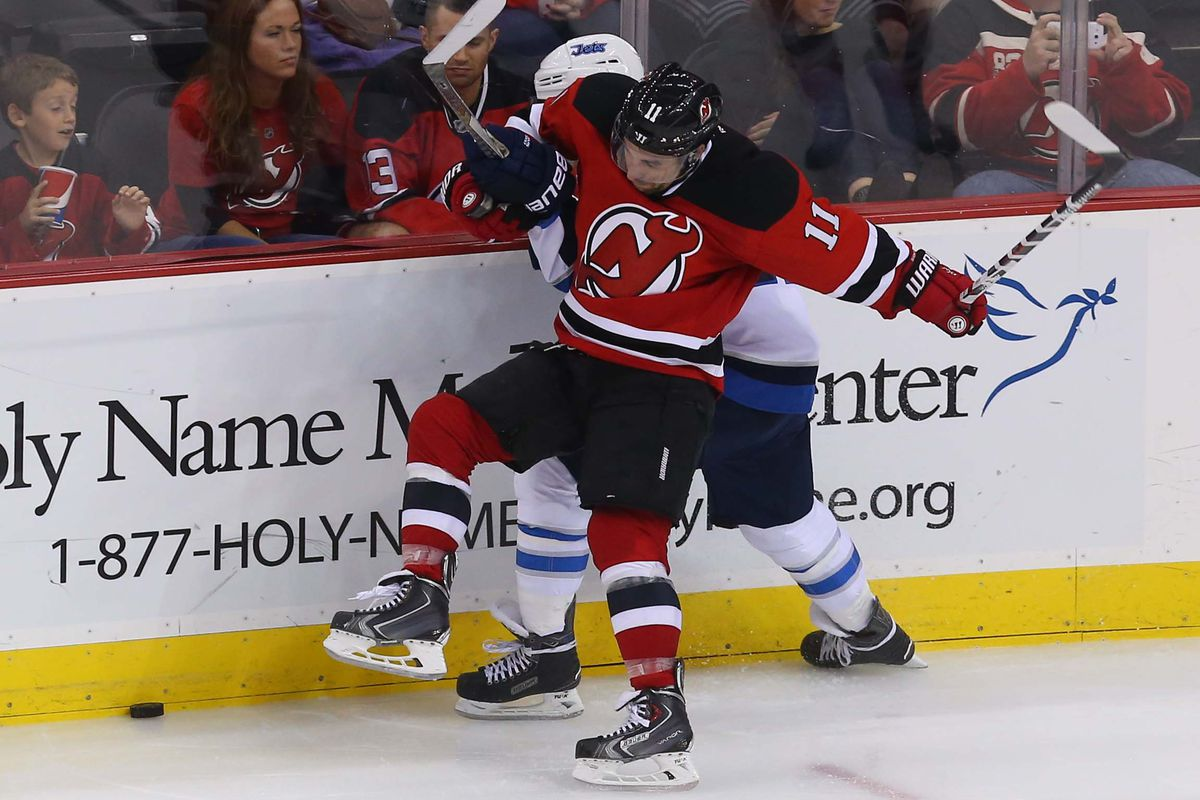 Stephen Gionta and the Devils will battle the Jets, tonight!